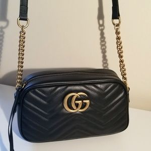 New Gucci GG Marmont small matelassé shoulder bag